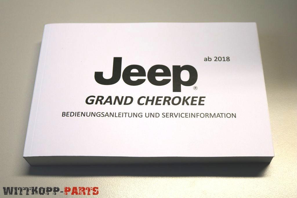 Bedienungsanleitung Jeep Grand Cherokee ab 2018