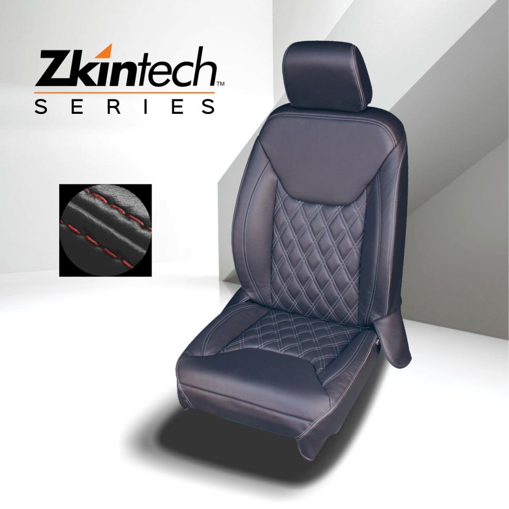 Lederkit Zkintech schwarz mit roten Nähten - Jeep Wrangler Unlimited