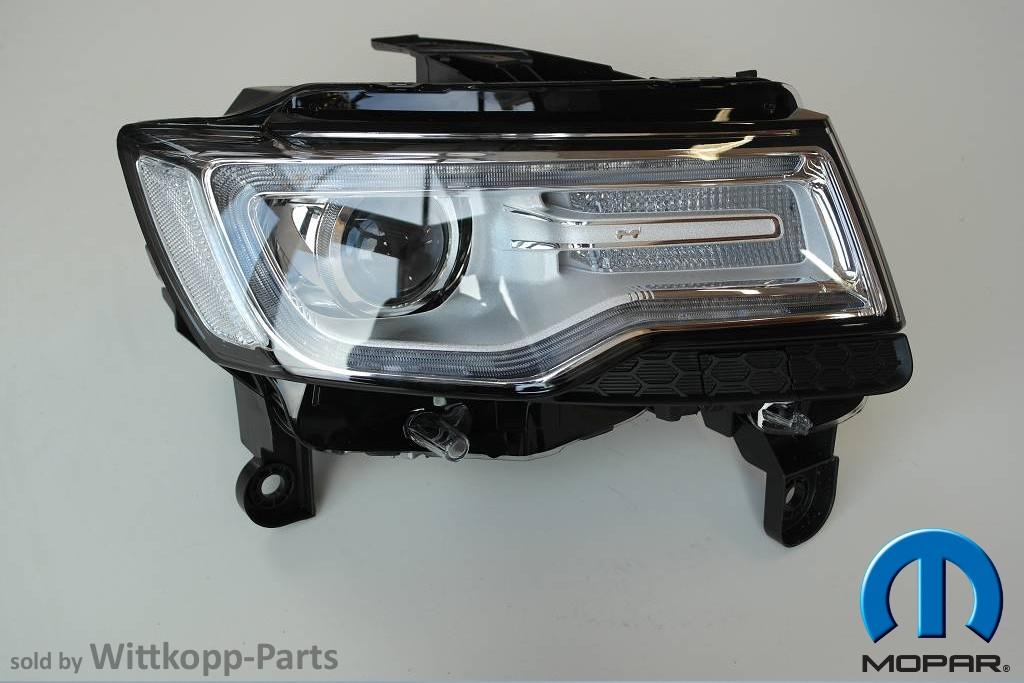 scheinwerfer bi xenon rechts original jeep grand cherokee ab 2014 mopar ebay. Black Bedroom Furniture Sets. Home Design Ideas