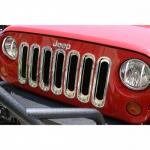 Kühlergrilleinsätze, chrom für Jeep Wrangler JK 2007-2018, Rugged Ridge