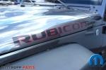 Schriftzug Motorhaube Rubicon schwarz-rot in 10th Anniversary Design Original - Mopar OEM